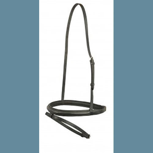 Dressage Flash Cavesson with Flash Plain Raised NEW BLACK by DaVinci!