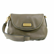 NWT Marc by Marc Jacobs NEW Q NATASHA Leather Crossbody Bag Taupe 100% A... - $335.00