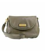 NWT Marc by Marc Jacobs NEW Q NATASHA Leather Crossbody Bag Taupe 100% AUTHENTIC - $335.00