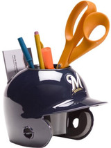 Milwaukee Brewers MLB Baseball Schutt Mini Batting Helmet Desk Caddy - $19.95