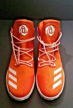 Adidas Men B38925 D Rose 7 Boost Primeknit Basketball Shoe Orange/White Size 16 image 2