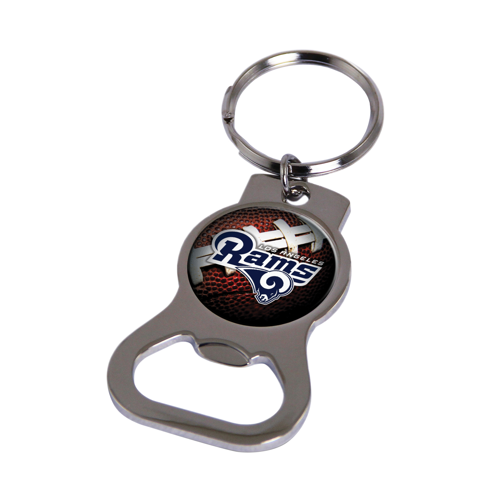 Non Metal Nfl Los Angeles Rams Bottle Opener Key Ring By Rico Industries (Length - $11.62