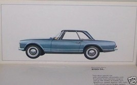 1967 mercedes owners sales brochure small 250sl 250se/c 600 limo w113 w111 - $34.64