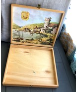 Vintage (empty) Wood Asbach Uralt Chocolate Box Print Of Castle Inside o... - $16.89