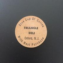 Vintage Oxford N.J. Restaurant Triangle Deli Wooden Nickel Coffee Token ... - $9.95