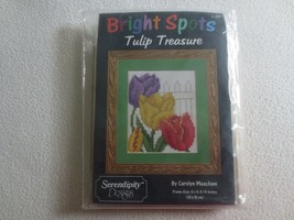 "Bright Spots TULIP TREASURES by Carolyn Meacham SEALED Kit w/Frame - 5"" ... - $11.88"