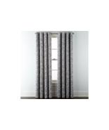 (1) JCPenney Liz Claiborne Quinn Leaf Skyline Gray Grommet Curtain 50x84... - $68.59