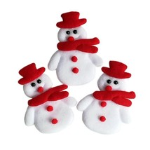 Christmas Decoration Snowman Applique Ornament Xmas Decor Indoor Craft A... - £8.54 GBP