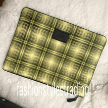 COACH LARGE POUCH WITH SOFT PLAID PRINT F41349 - $65.44