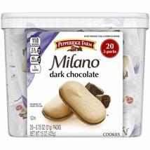 Pepperidge Farm Milano Dark Chocolate Cookies, 15 Ounce Multipack Tub, 20 Count, - $18.71