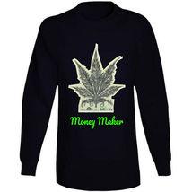 Money Maker 420 Canna Long Sleeve T Shirt image 4