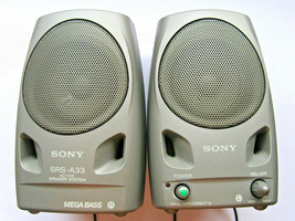 Sony SRS-A33 Portable Mega Bass Active Speaker System for CD MP3 Compute... - $32.49 CAD