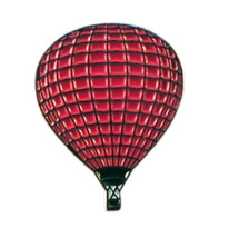 hot air balloon red colour silver Metal Badge Lapel /tie Pin Badge  with clip fo