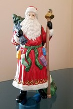 "Christmas Santa Claus Figurine ""Santa with Staff"" MINT Father Christmas ... - $14.80"
