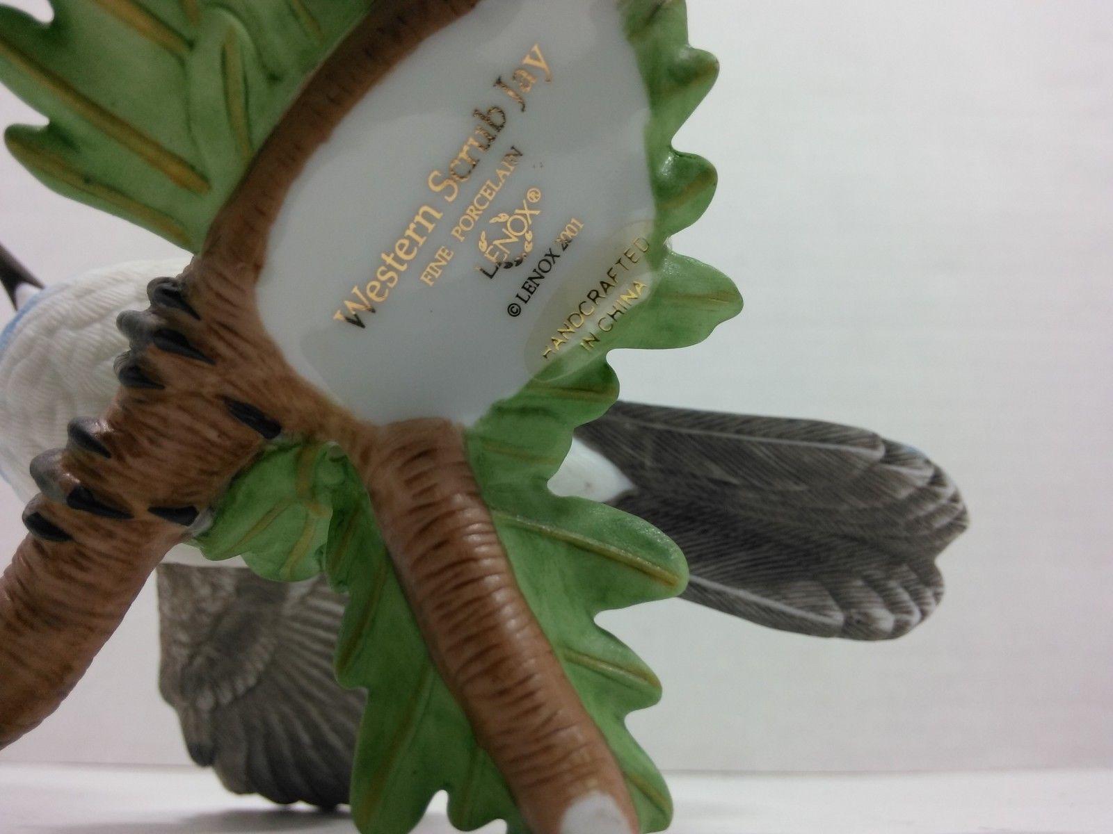 THE LENOX GARDEN BIRD COLLECTION Western Scrub Jay (2001 Fine Porcelain) image 12