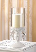 Jeweled Hurricane Candelabra Candle Holder Wedding Centerpieces - $125.68
