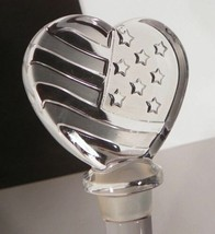 Mikasa Crystal Wine Bottle Stopper HEART OF AMERICA EUC in Box Glass - $13.81