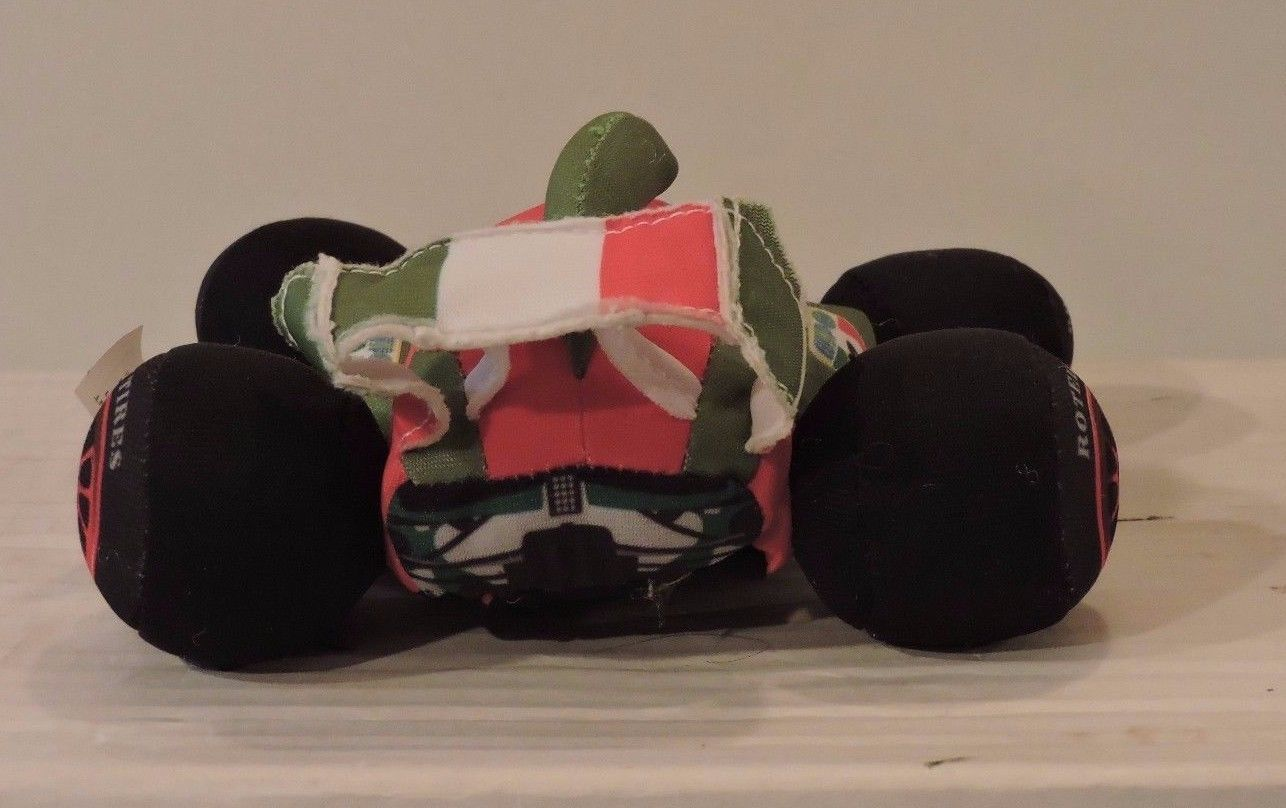 Disney Pixar CARS 2 Crash Ems FRANCESCO BERNOULLI Plush Talking Race Car Slammer