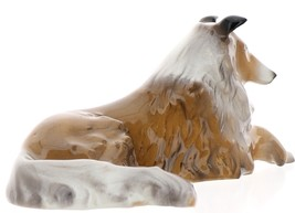 Hagen-Renaker Miniature Ceramic Dog Figurine Collie Pedigree Lying image 4