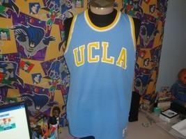 Vintage 80's UCLA Bruins NCAA Basketball Jersey MacGregor Sand Knit L  - $98.99