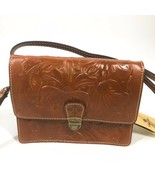 PATRICIA NASH Tooled LANZA Crossbody Bag FLORENCE BROWN Convertible - $108.89