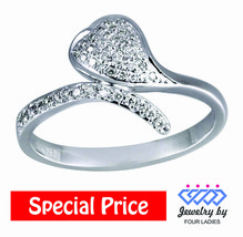 0.17CT 14K White Gold Real Natural Cluster Diamond Ring Fine Jewelry For... - $270.54