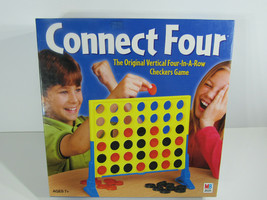 Connect 4 Four (2002) Vertical Four-In-A-Row Checkers Game Hasbro - $9.89