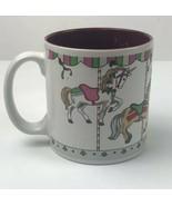 Christmas Carousel Horse Merry Go Round Russ Berrie Coffee Cup Mug 8193 - $7.25