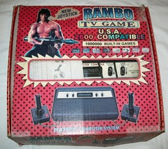 Rambo TV Games Atari 2600 Clone legendary TV console 1.000.000 Games #01 - $153.00