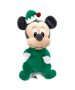 "Disney Babies Mickey Mouse Holiday Christmas Plush Green Elf 12"" Stuffed... - $44.95"