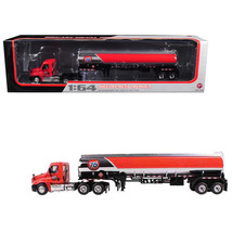 Freightliner Cascadia with 42 76 Fuel Tanker 1/64 Diecast Model by First... - $96.62