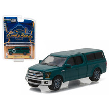 2015 Ford F-150 with Camper Shell Green Gem Country Roads Series 15 1/64... - $22.38