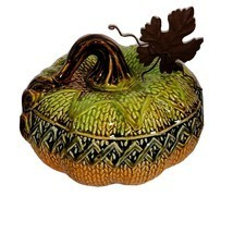 Transpac Pumpkin Ceramic Halloween Thanksgiving Fall Decor Knit Pumpkin ... - £13.67 GBP