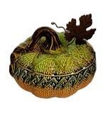 Transpac Pumpkin Ceramic Halloween Thanksgiving Fall Decor Knit Pumpkin ... - $18.80