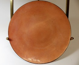 Vintage Enameled Copper Mid Century Modern Dish Bowl Peach Signed JLB - $19.75
