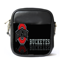 Sling Bag Leather Shoulder Bag The Ohio State Buckeyes Logo Football Tea... - $14.00