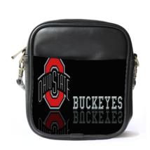 Sling Bag Leather Shoulder Bag The Ohio State Buckeyes Logo Football Team In Ele - $14.00