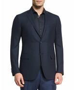 995.00 Z Zegna Jacket Coat Navy 2 Button 2 Vents Drop 8 Deco  Size 54 8 R - $395.99