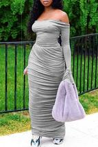 Trendy Backless Grey Ankle Length Dress - $27.04