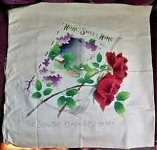 """Antique Victorian """"Home Sweet Home"""" Embroidery Pillow or Sign NOS Not St... - $17.10"""