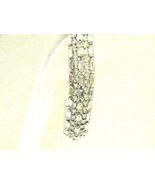 Spectacular 5 Row Rhinestone Vintage Bracelet Baguettes Rounds Rhineston... - $43.20