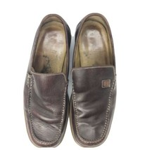 BALLY Men's Size 7 Brown Leather Loafers Slip-On Dress Shoes - $29.69