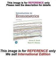 Introduction to Econometrics by James H Stock, Mark W Watson, 4th editio... - $44.90