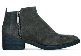 NIB Brand New Ladies Kenneth Cole Levon Asphalt Grey Leather/Suede Ankle Boots image 2