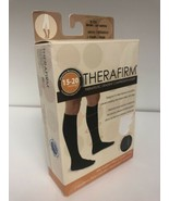 Therafirm Mens Compression Trouser Socks 15-20mmHg Brown Small - $9.67