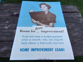 Vintage Banking Advertising Poster Home Loan Frederick Photogelatine 1961 - $39.55