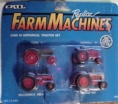 ERTL Farm Machines Case IH Historical Tractor Set Farmall McCormick Case... - $19.95