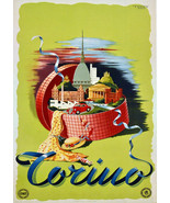 """20x30""""Poster on Canvas.Home Room Interior design.Travel Italy.Torino.6530 - $60.78"""