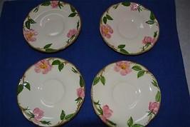 8 Franciscan Pink Desert Rose Saucer plates USA black backstamp & gold s... - $13.53