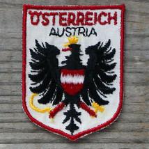 Vintage OSTERREICH Travel Patch Cloth Ski Souvenir Travel Escusson Badge... - $12.82
